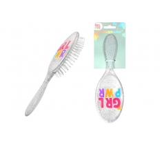 GRL PWR GLITTER HAIR BRUSH
