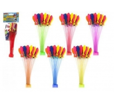 37PC SELF TYING WATER BALLOONS / BOMBS WITH EXTRA REFILLS