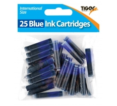 TIGER BLUE INK CARTRIDGES 25 PACK