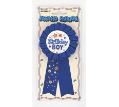 BIRTHDAY BOY RIBBON AWARD BADGE