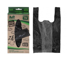 PACK OF 75 ECO DEGRADABLE DOGGY POOP BAGS
