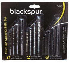 BLACKSPUR 13PC COMBINATION DRILL BIT SET