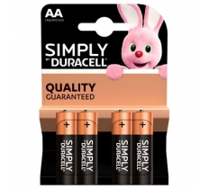 DURACELL SIMPLY AA BATTERIES 4 PACK X 20