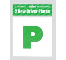 COUNTY ALL MAGNETIC LEARNER DRIVER GREEN P PLATES 2 PACK