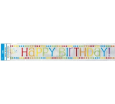 RAINBOW BIRTHDAY FL BANNER 12FT-LF