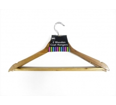 WOODEN COAT HANGERS 2 PACK