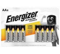 ENERGIZER AA ALKALINE BATTERY 8 PACK X 24 ( 2.08 EACH )