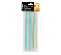 CHEF AID 40 BIODEGRADABLE STRAWS