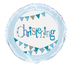 "18"" BLUE CHRISTENING BALLOON"
