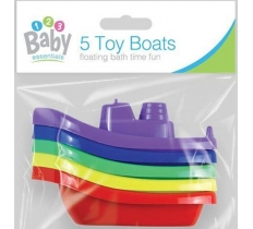 BATH TIME BOATS 5 PACK