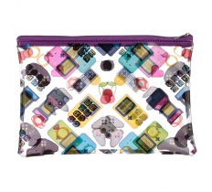 GAME OVER PVC TOILETRY MAKEUP BAG