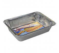 RECTANGULAR BBQ FOIL COOKING TRAYS 5 PACK