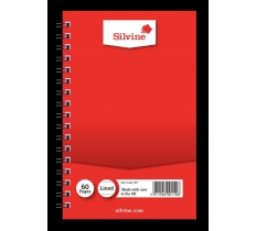 SILVINE TWIN WIRE NOTEBOOK 60 PAGES LINED 158MM X 101MM