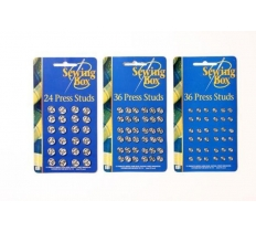Sewing Press Studs ( Assorted Sizes )