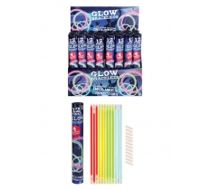 GLOW STICK BRACELETS WITH CONNECTORS 12 PACK