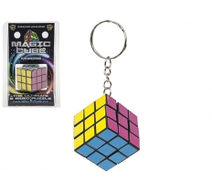 3CM MAGIC CUBE KEYCHAIN IN CLAM PACK