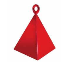 QUALATEX PYRAMID BALLOON WEIGHT RED