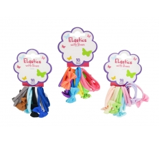 HAIR ELASTICS W/BOW NO METAL 1