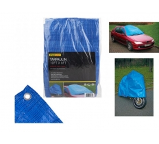 10FT X8FT BLUE TARPAULIN WITH 12 EYELETS