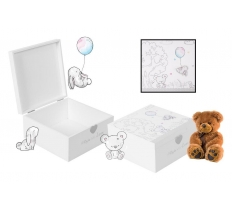 WOODEN MEMORIES KEEPSAKE BOX 20CM X 20CM X 10CM