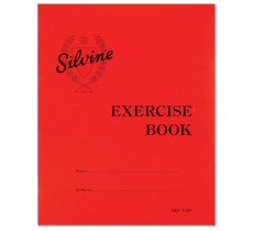 SILVINE EXERCISE BOOK 40 LINED PAGES 203MM X 165MM