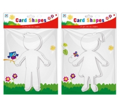 ACTIVITY BOY AND GIRL CARD CUTOUT SHAPES