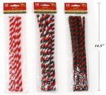 "12PACK 12"" XMAS CHENILLE STEMS"