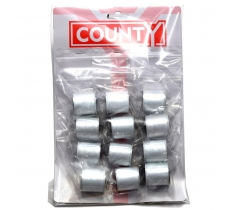 COUTY WHITE SEWING THREAD x 12 ( 23p EACH )