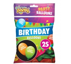 HAPPY BIRTHDAY BALLOONS 25PACK