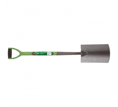 GARDEN CARBON STEEL BORDER SPADE WITH SOFT GRIP HANDLE