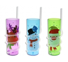 CHRISTMAS CRAZY STRAW SIPPER CUP