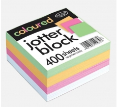 County Coloured Jotter Block 400 sheets