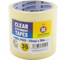 4pc Clear Tape 22mm x 35m