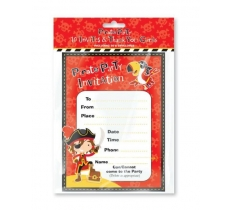 PIRATE INVITES THANK YOU CARDS 10 PACK