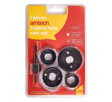 AMTECH 5PC HOLE SAW SET