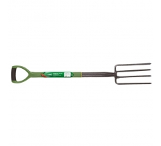 GARDEN CARBON STEEL DIGGING FORK WITH SOFT GRIP HANDLE