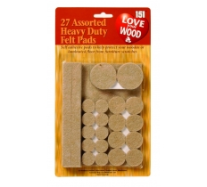 Assorted Felt Pads 27Pk