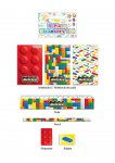 STATIONERY SET 5 PC BRICKZ