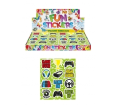 GAMER 10CM X 11.5CM STICKER SHEETS X 120