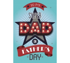 FATHERS DAY SUPER DAD POPPET