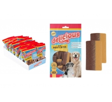 2-COLOUR MEATY STRIPS DOG TREAT 200G