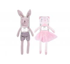 40CM KNITTED BUNNY OR CAT