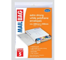 Polythene Mail Bags 320 x 440mm (5 Pack)