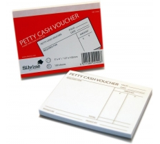 SILVINE PETTY CASH VOUCHER PAD 127MM X 102MM 100 SHEET