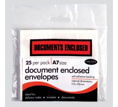 County Document Enclosed Envelopes 25's A7