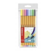 STABILO ORIGINAL PASTEL POINT 88 FINELINER PENS 8 PACK