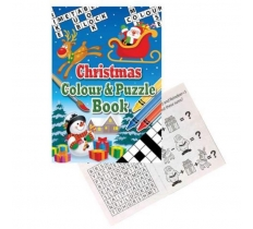 CHRISTMAS COLOUR AND PUZZLE BOOK