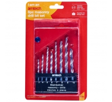 AMTECH 8PC MASONRY DRILL BIT SET