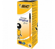 BIC ORANGE ORIGINAL FINE BALLPOINT PEN BLACK PACK OF 20