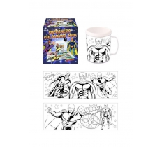 COLOUR IN YOUR OWN SUPER HERO MUG